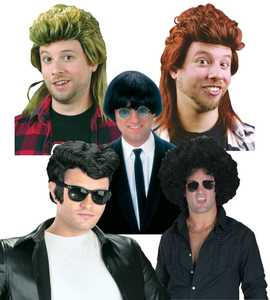 Fun World 92602 Thru the Decades Men's Wig Assortment