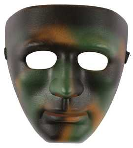 Fun World 93480 Camouflage Blank Mask
