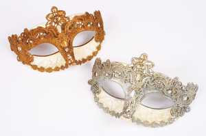 Fun World 93239 Venetian Lace & Craquel Mask Assortment