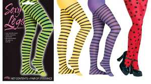 Fun World 9177 Adult Stripe and Dot Pantyhose
