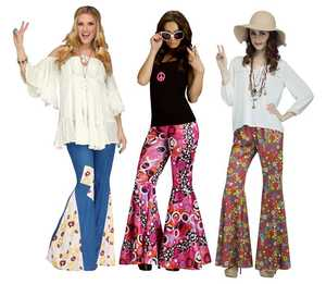 Fun World 90205 Flower Child Bell Bottoms