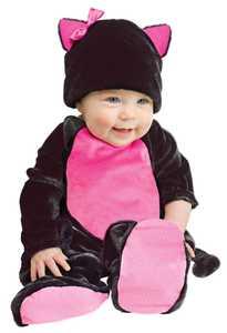 Fun World 117191 Baby Black Kitty