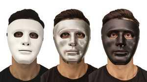 Fun World 93280 Blank Mask Silver