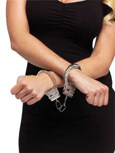 Fun World 90229 Rhinestone Handcuffs