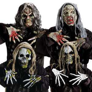 Fun World 93235 Zombie Skull Mask & Gloves