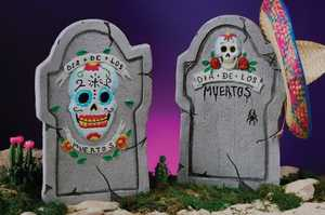 Fun World 91099 22 in Day of the Dead Tombstone Assortment