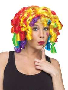 Fun World 92201 Color Curlz Clown Wig