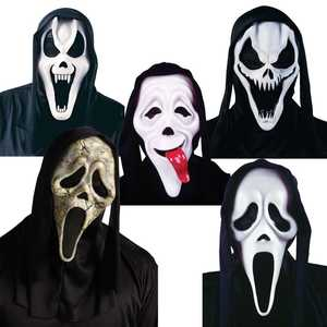 Fun World 9206 Ghost Face Mask with Shroud Assortment