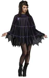 Fun World 90269 Spider Web Poncho
