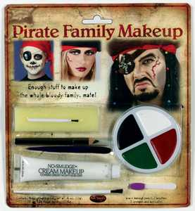 Fun World 9475 Family Makeup Character Kit Pirates