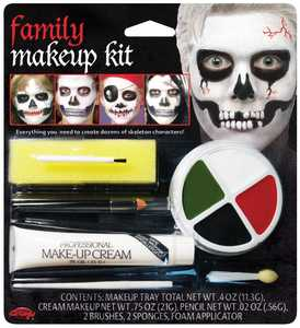Fun World 9475 Family Makeup Character Kit Skeletons