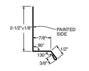 Metal Sales 4204438 Drip Cap 10.5 ft White