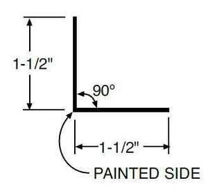 Metal Sales 42064 Special Order Mini Angle 1.5x1.5x10.5 Pt d