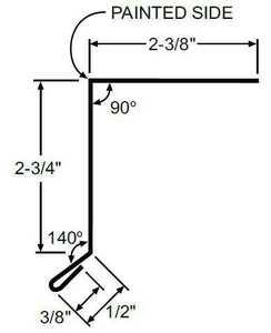 Metal Sales 4207180 Rake Trim 10.5 ft White