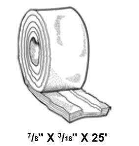Metal Sales 6404099 Tape Sealant 3/8x3/32x50 Ft