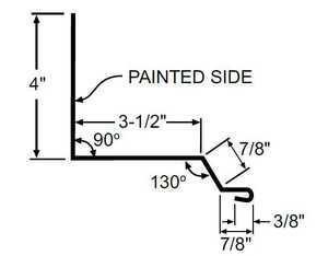 Metal Sales 42078 Special Order Universal Sidewall 10.5 ft Painted