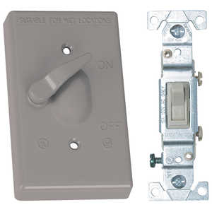 Sigma Electric/Gampak 14216 1-Gang Toggle Cover With Single Pole 15a Switch