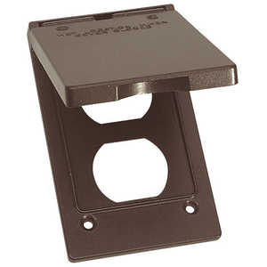 Sigma Electric/Gampak 14246BR 1-Gang Bronze Vertical Duplex Cover