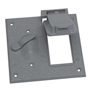 Sigma Electric/Gampak 14344 2-Gang Gray Toggle Switch /GFCI Cover