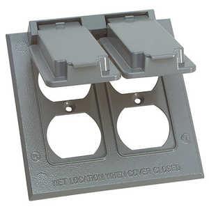 Sigma Electric/Gampak 14345 2-Gang Gray Duplex Cover