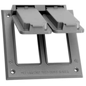 Sigma Electric/Gampak 14348 2-Gang Gray GFCI Cover