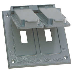 Sigma Electric/Gampak 14349 2-Gang Gray Toggle Switch Cover