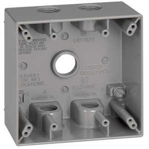 Sigma Electric/Gampak 14351 1/2-Inch 2-Gang Four Hole Gray Box