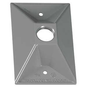 Sigma Electric/Gampak 14371 1/2-Inch One Hole 1-Gang Rectangular Lampholder Cover