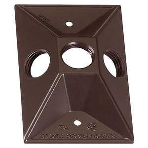Sigma Electric/Gampak 14373BR 1/2-Inch Three Hole 1-Gang Rectangular Lampholder Cover