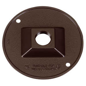 Sigma Electric/Gampak 14381BR 1/2-Inch Bronze One Hole Round Lampholder Cover