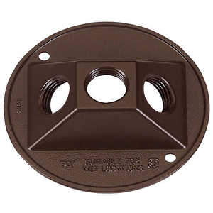 Sigma Electric/Gampak 14383BR 1/2-Inch Bronze Three Hole Round Lampholder Cover