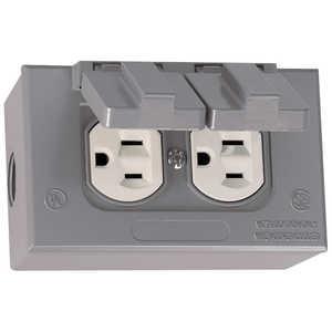 Sigma Electric/Gampak 16446 Rectangular Box, Cover And Duplex Receptacle Kit Gray