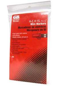 Gardner Bender 42-028 Marker Wire A-Z 0-15 + 1 10 Piece