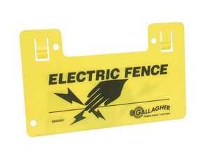 GALLAGHER N. AMERICA,INC G602404 Clip On Warning Sign