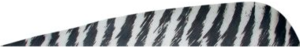 Gateway Feathers 400RPBWH-50 4 In Parabolic Barred White Rght Winged