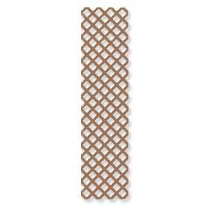 Genova LC150 Vinyl Lattice Panel 2x8 Cedar Brown