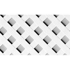 Genova LW200 Vinyl Privacy Lattice Panel 4x8 White