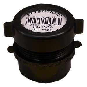 Genova 82311 Trap Adapter Fitting 1-1/2 x 1-1/4 Abs