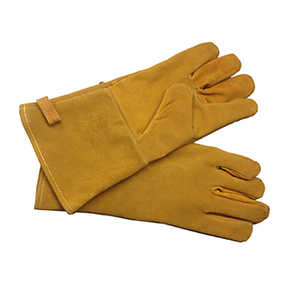 GHP Group FA310G Fireplace Gloves Brown