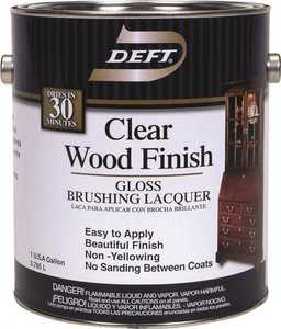 Deft 010-01 Interior Wood Finish Brushing Lacquer Amber Gloss Finish Gallon