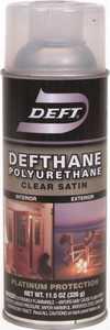 Deft 025-13 Defthane Interior/Exterior Polyurethane Amber Satin Finish 11-1/2-Ounce Can