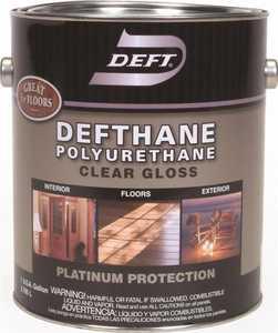 Deft 020-01 Defthane Interior/Exterior Polyurethane Amber Gloss Finish Gallon