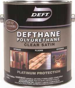 Deft 025-01 Defthane Interior/Exterior Polyurethane Amber Satin Finish Gallon