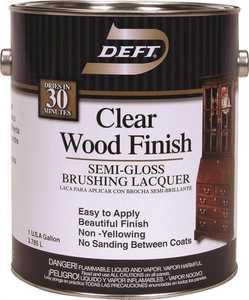 Deft 011-01 Interior Wood Finish Brushing Lacquer Opaque Semi-Gloss Finish Gallon