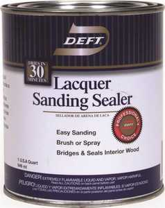 Deft 015-04 Interior Sanding Sealer Lacquer Crystal Clear Quart