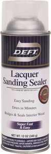 Deft 015-13 Interior Sanding Sealer Spray Laquer 12-Ounce Can