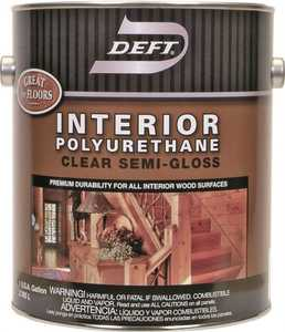 Deft 224-01 Interior Polyurethane Amber Semi-Gloss Finish Gallon