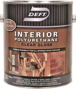 Deft 221-01 Interior Polyurethane Amber Gloss Finish Gallon