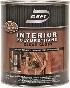 Deft 221-04 Interior Polyurethane Amber Gloss Finish Quart