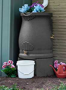 Good Ideas Inc. RWURN-DAR Rain Wizard Urn Dark Granite